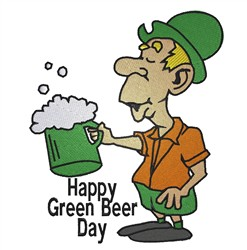 Green Beer Day embroidery design