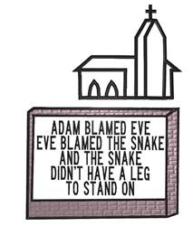 Adam Blamed Eve embroidery design