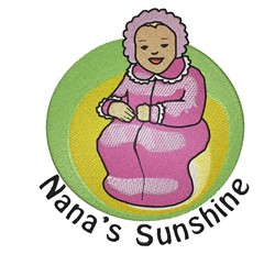 Nanas Sunshine embroidery design