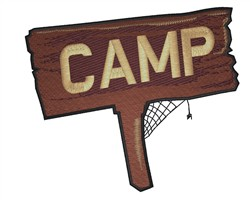 Camp Sign embroidery design