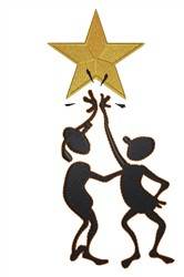 High Five Star embroidery design