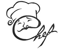 Chef embroidery design