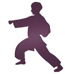 Karate Silhouette embroidery design