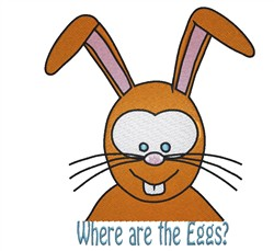 Where Are Eggs embroidery design