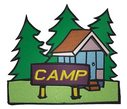 Camp Scene embroidery design