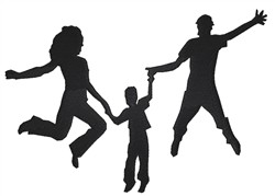 Jumping Family embroidery design