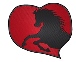 Horse In A Heart embroidery design