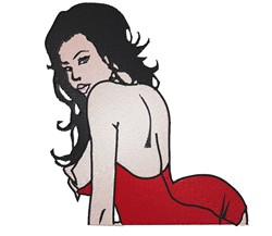 Sexy Lady embroidery design