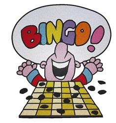 Bingo! embroidery design