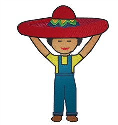 Mexican Boy embroidery design