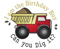 Birthday Boy Truck embroidery design