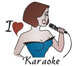 I Love Karaoke embroidery design
