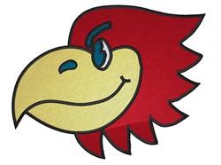 Hawk Head Mascot embroidery design