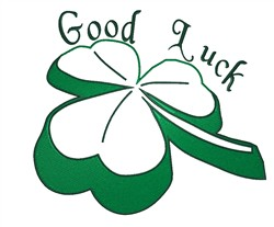 Good Luck Shamrock embroidery design