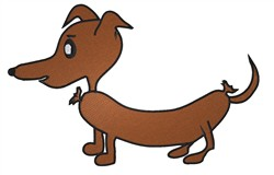 Weiner Dog embroidery design