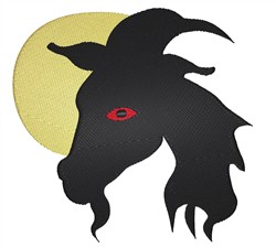 Goat Head Silhouette embroidery design