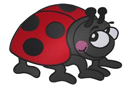 Cute Ladybug embroidery design