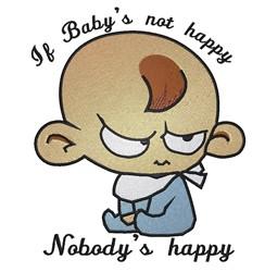 Nobodys Happy embroidery design