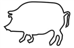Pig Outline embroidery design