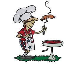 BBQ Chef embroidery design