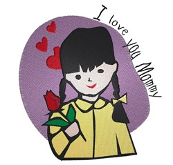 Love You Mommy embroidery design