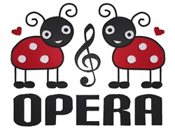 Opera embroidery design