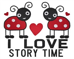 Love Story Time embroidery design