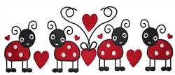 Ladybug Love embroidery design