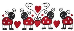 Ladybug Love embroidery design