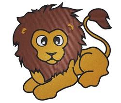 Cute Lion embroidery design