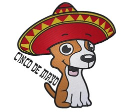 Cinco De Mayo embroidery design