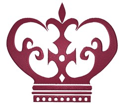 Crown Logo embroidery design