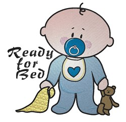 Ready For Bed embroidery design