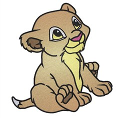 Lion Cub embroidery design