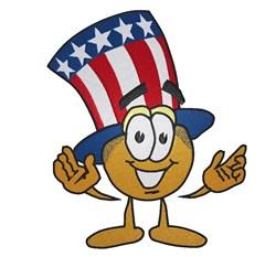 Patriotic Smiley embroidery design