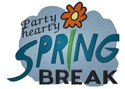 Party Hearty embroidery design