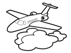 Airplane Outline embroidery design