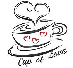 Cup Of Love embroidery design