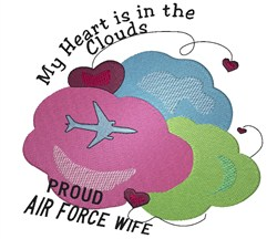 Air Force Wife embroidery design