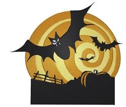 Bats And Pumpkins embroidery design