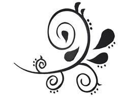 Black Swirl embroidery design