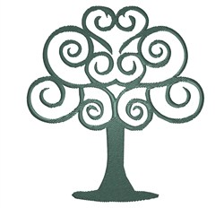 Swirly Tree embroidery design