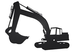 Excavator Silhouette embroidery design