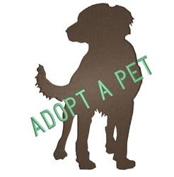 Adopt A Dog embroidery design