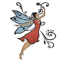 Swirl Fairy embroidery design