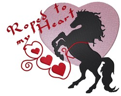 Fresian Roped Horse embroidery design