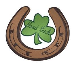 Good Luck Horseshoe embroidery design