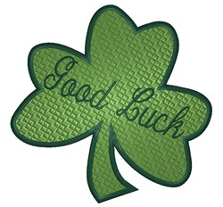 Clover Good Luck embroidery design