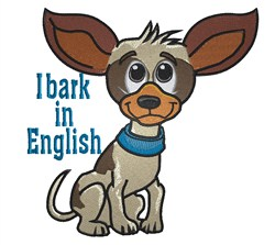 Chihuahua Barks embroidery design