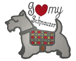 I love My Schnauzer embroidery design